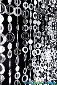 Circles Beaded Curtain - Silver - 3 ft x 6 ft
