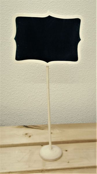 """CLEARANCE - 1 Lot Available!  Chalkboard on Wooden Stand - 6.5"""" x 13"""" - 106 Pieces"""