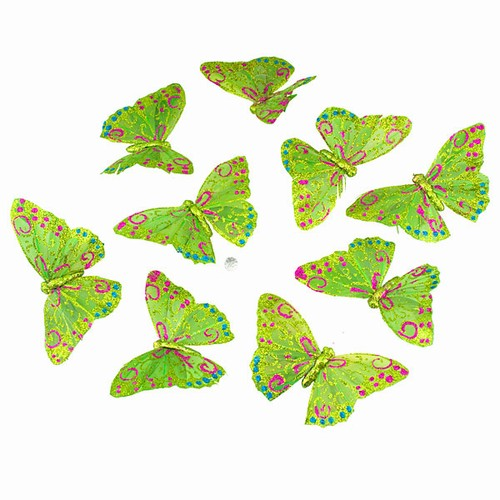 COMING SOON! SALE ! Butterfly Garland -  Olive  & Glitter