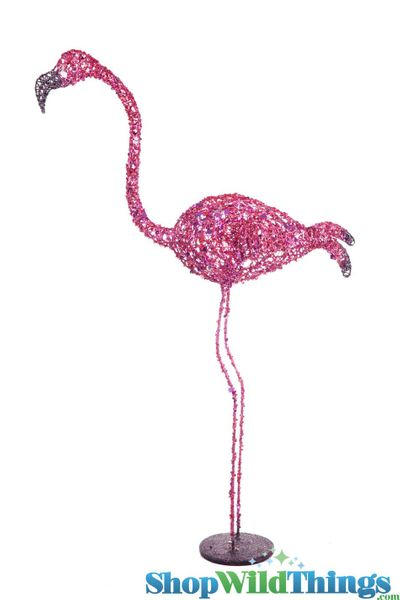 CLEARANCE! Flamingo Prop 3' Glitter & Sequins - Head Looking Up