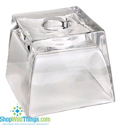 "SALE ! Glass Taper Candle Holder 5"" x 4"""