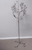 """SALE! """"Matilda"""" Candle Holder Tree, 47"""" with Antique Silver Birds, Leaves & Crystals"""