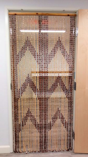 "CLEARANCE! Wooden Bead Curtain - ""Dynasty"" - 35"" x 78"" - 52 Strands (Extra Coverage)"