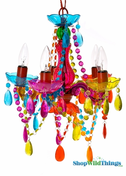"Coming Soon - Chandelier Gypsy Multicolor - 17"" x 15"" - 5 Lights - With Plug"