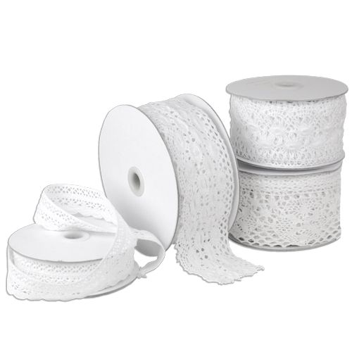 "COMING SOON! Crochet Lace Ribbon - White - 2.33"" x 10 yards"