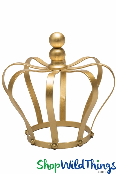 Crown Centerpiece, Cake Topper, Candle Holder - Gold 8""