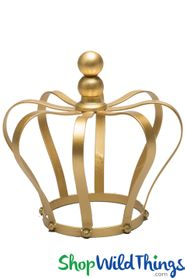 Crown Centerpiece, Candle Holder, Cake Topper - Gold 8""
