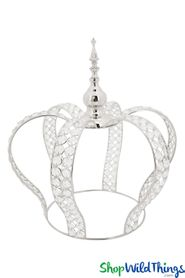 "Prestige Real Crystal Beaded Crown - 16""H x 15""W - Silver"