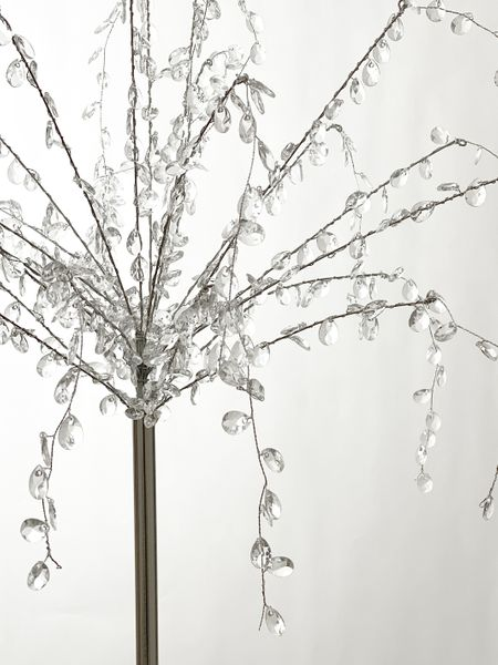 COMING SOON! Crystal Beaded Frozen Droplets Tree 2'W x 3'H