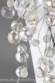Crystal Beaded Garlands 4 Feet - Crystal