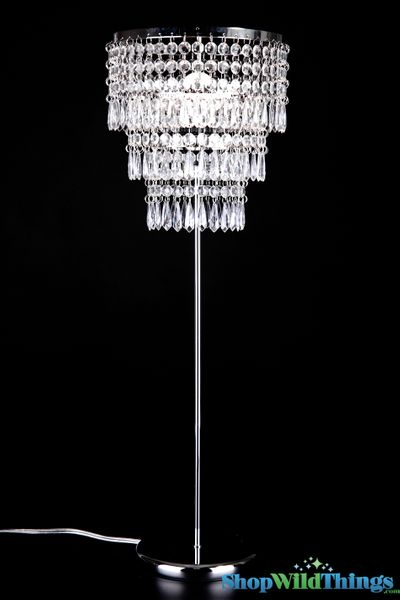 """Coming Soon - Crystal Beaded Table Lamp Shabby Chic """"Victoria"""""""