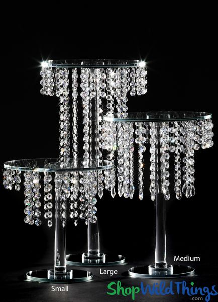 "Crystal Tiered ""Aubrey Large"" Centerpiece & Dessert Riser 19 3/4"" Tall"