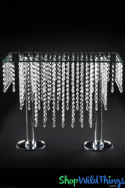 "COMING SOON! Crystal Tiered Table ""Cameron"" Centerpiece & Dessert Riser 19 1/2"" Tall"