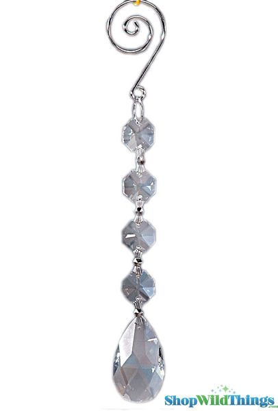 """Crystal Hanging Prism, Glass - Crystal Strand 6.5"""" - """"Kiera"""" Set of 12 - Clear"""