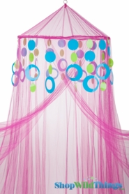 Custom Canopy with Hoops Blue & Lime-Choose Canopy Color!