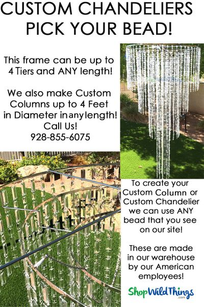 Custom Chandelier - 3 Feet Wide - 4 Large Tiers (or 2' Single Tier!)