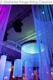Custom String Curtain Columns - 3' Diameter / 6' to 20' Long - Choose Color, Length, Fire Treatment
