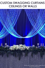 Custom Top & Bottom Rod Swagging Curtains - For Walls or Ceilings