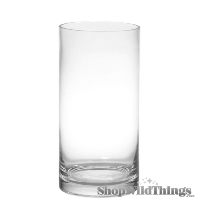 "Cylinder Vase - Glass - 16"" Tall x 4"" Wide - 2 pcs"