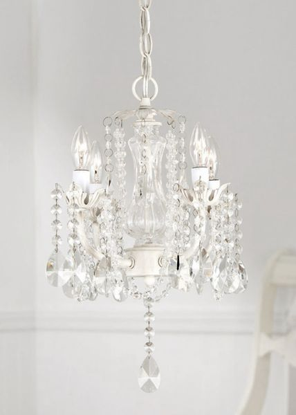 """COMING SOON! Chandelier """"Daphne"""" Glimmering Draped Real Glass Crystals - 12"""" X 12"""" X 16"""" - 4 Lights!"""