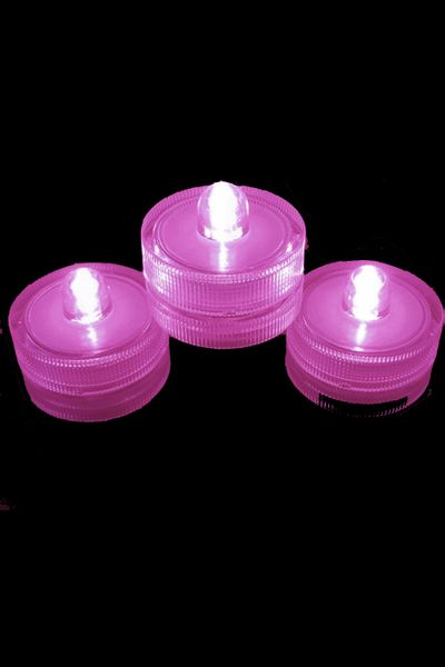 COMING SOON! DazzLED Submersible Pink LED Lights - Set of 10