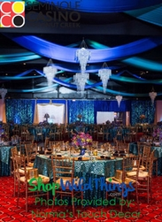 Decorating with Large Chandeliers - Norma's Touch Decor ; Seminole Coconut Creek Casino