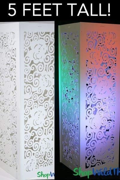 "Decorative Laser Cut Column ""Gwen"" 