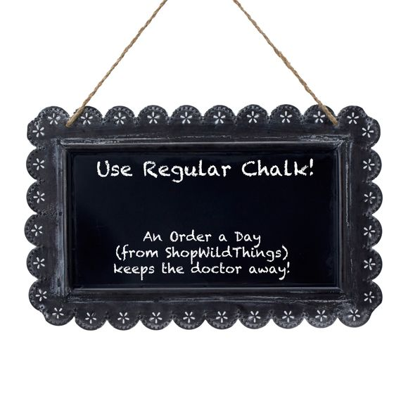 "SALE ! Decorative Hanging Chalkboard 11"" x 6"""