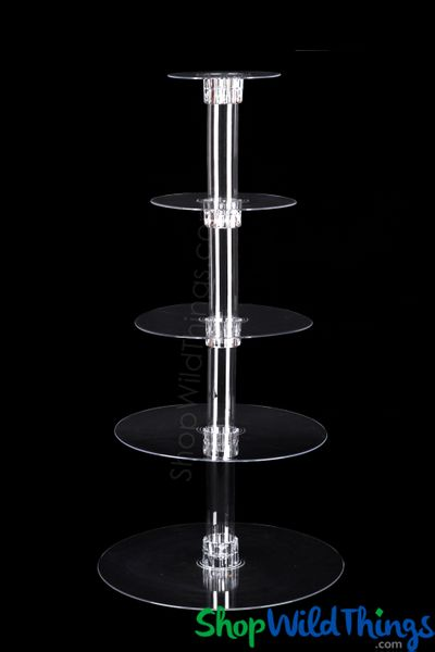 "Dessert Stand - Acrylic ""Elevation"" 28"" Tall - 5 Tiers"