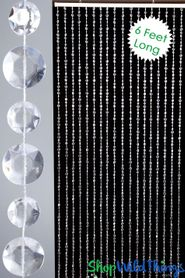 Diamante Duo Beaded Curtain - Crystal Non-Iridescent (5 Sizes: 6-24 Feet Long)