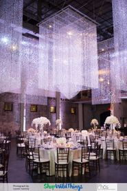 Diamond Bead Curtains Add Drama and Disguise Infrastructure