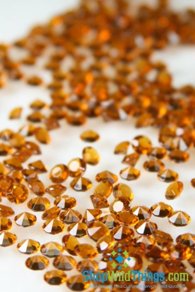 Coming Soon! Diamond Confetti - 2000pcs - 1 Carat (6.5mm) Copper Acrylic Diamonds