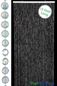 Diamond Crystal Iridescent Beaded Curtain 12 Feet Long