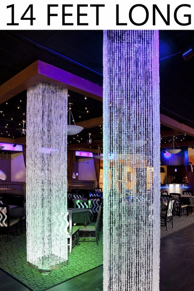 COMING SOON! Diamond Crystal Sparkling (Iridescent) Square Column - 14 Feet Long - PREMIUM QUALITY BEADS!