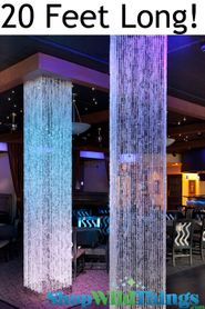 Diamond Crystal Sparkling (Iridescent) Square Column - 20 Feet Long - PREMIUM QUALITY BEADS!