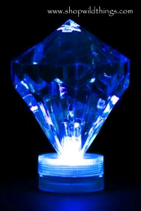 Coming Soon!  Diamond LED Light - Blue - Waterproof, Battery Operated