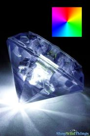 LED Diamond Shape Light - Battery Operated - Color Changing RGB - Waterproof