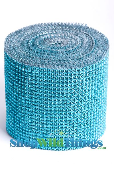 "Diamond Wrap Rolls Aqua Turquoise Blue 4"" Wide x 30Ft Long"
