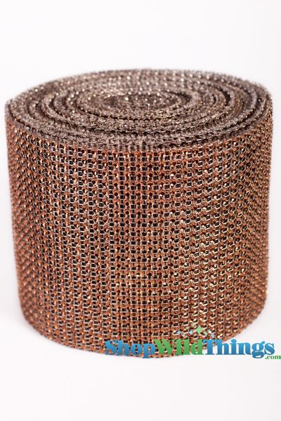 "Diamond Wrap Rolls - Champagne - 4.5"" Wide x 30 ft Long (10 Yards) - Trimmable!"