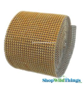 "Diamond Wrap Rolls - Gold - 4.5"" Wide x 30 ft Long (10 Yards) - Trimmable!"