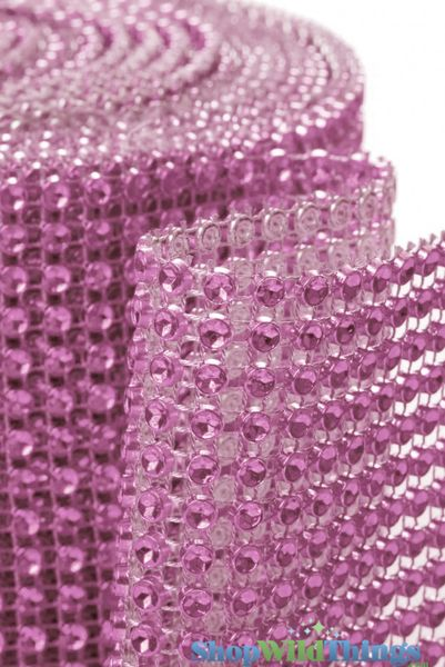 "Diamond Wrap Rolls Pink 4"" Wide x 30' Long"