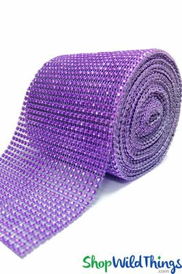 Royal Purple Diamond Wrap Mesh Roll 30 Long