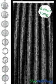 Diamonds Beaded Curtain - Crystal Non-Iridescent 6 Feet Long