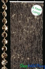 Diamonds Beaded Curtains - Gold - 3 ft x 6 ft Weddings and Events!