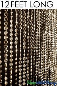 Diamonds Beaded Curtain -Gold - 3' x 12'