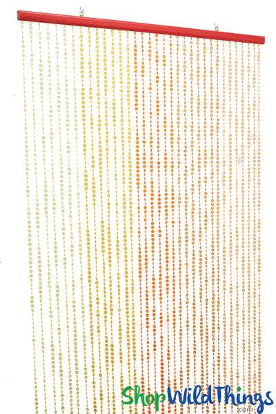 "Diamonds Beaded Curtain - ""Sunset Sparkle"" - 35"" x 6'"