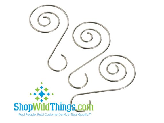 Displayers - Silver Ornament Hook Set of 60