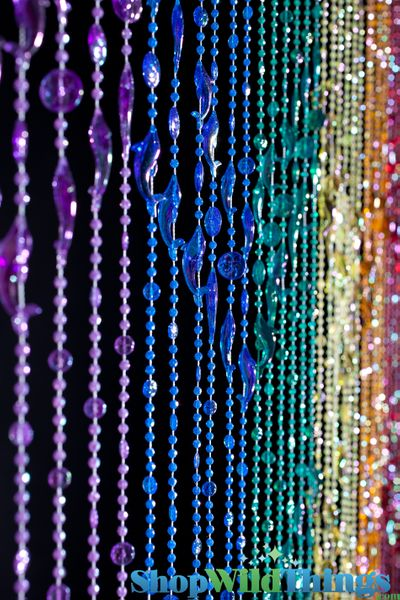 COMING SOON! Dolphins Beaded Curtains - Rainbow Iridescent - 3 ft x 6 ft