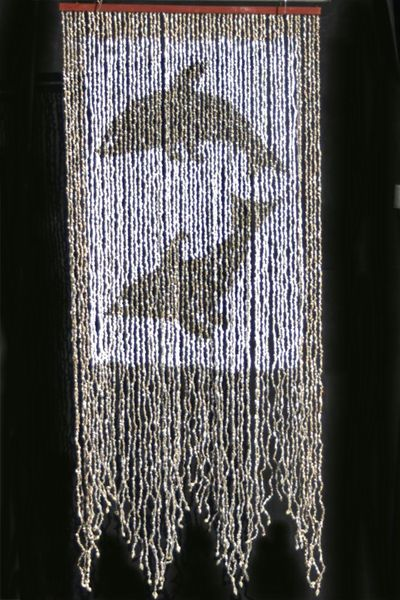 Nassa Shells Beaded Curtain - Dancing Dolphins