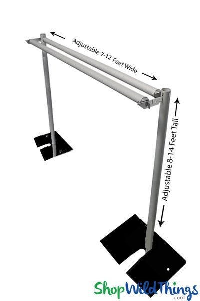 (FREE SHIPPING!) Pipe & Drape Backdrop Hardware Kit Professional Series - 8'-14' Tall x 7'-12' Wide 2 Tier Backdrop